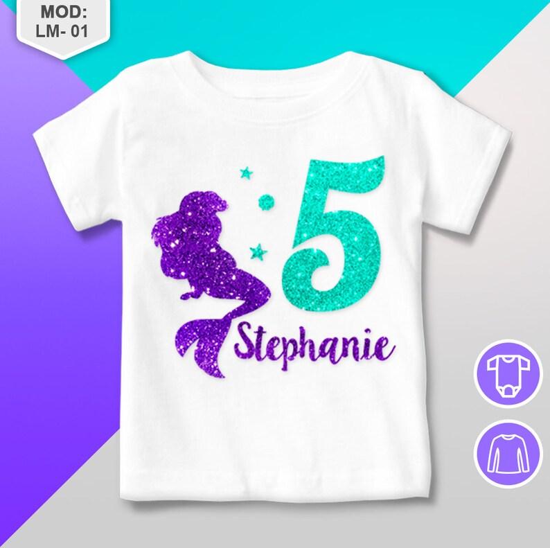 White Personalised Childrens Girls Unisex Masha and Bear Birthday T-Shirt