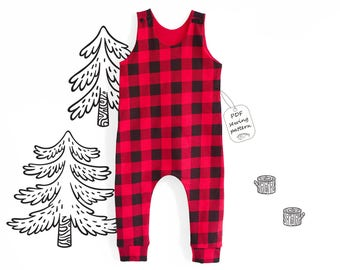 Romper Sewing Pattern PDF, baby romper pattern PDF, kids romper pattern PDF, sewing patterns pdf