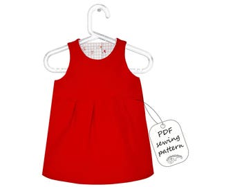 Baby dress sewing pattern PDF download, baby sewing patterns, sewing patterns dress