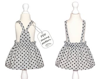 Skirt pattern PDF, baby sewing patterns, kids sewing patterns, sewing patterns dress