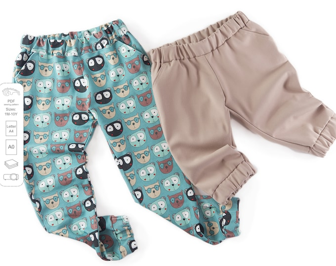 Featured listing image: Classic and capri joggers pants Sewing Pattern PDF
