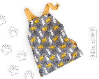 Dungaree dress Sewing Pattern PDF, baby dress pattern, girl sewing pattern