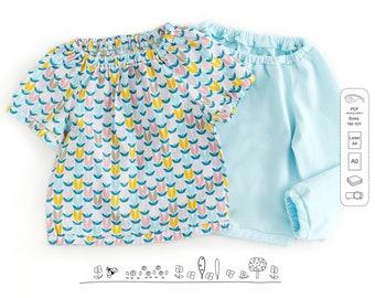 Girls top pattern pdf, baby top pattern, girls sewing patterns