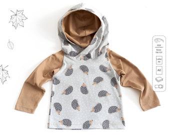 Raglan t-shirt Sewing Pattern PDF, baby t-shirt pattern, kids sewing patterns