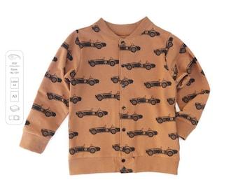 Bomber jacket sewing pattern PDF,  baby sewing patterns pdf, kids sewing pattern
