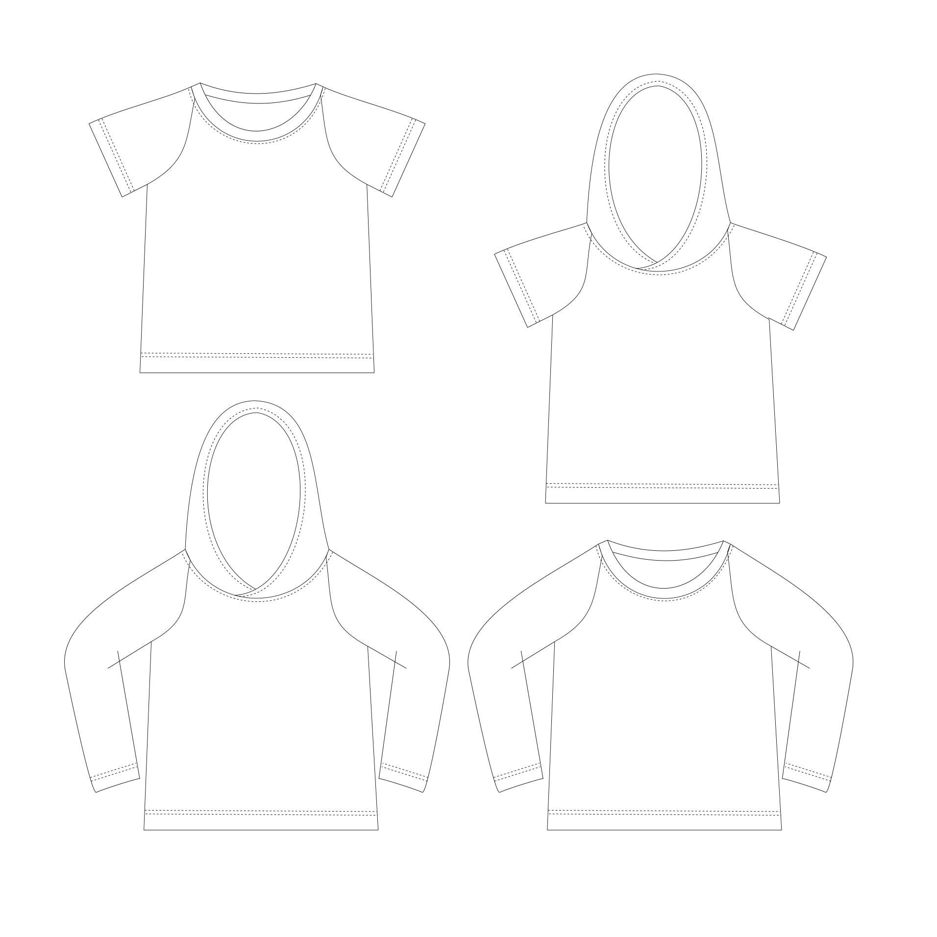 Raglan t-shirt Sewing Pattern PDF, baby t-shirt pattern, kids sewing ...