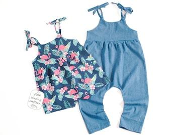 Playsuit pattern PDF, romper baby girl, romper toddler girl, romper sewing pattern