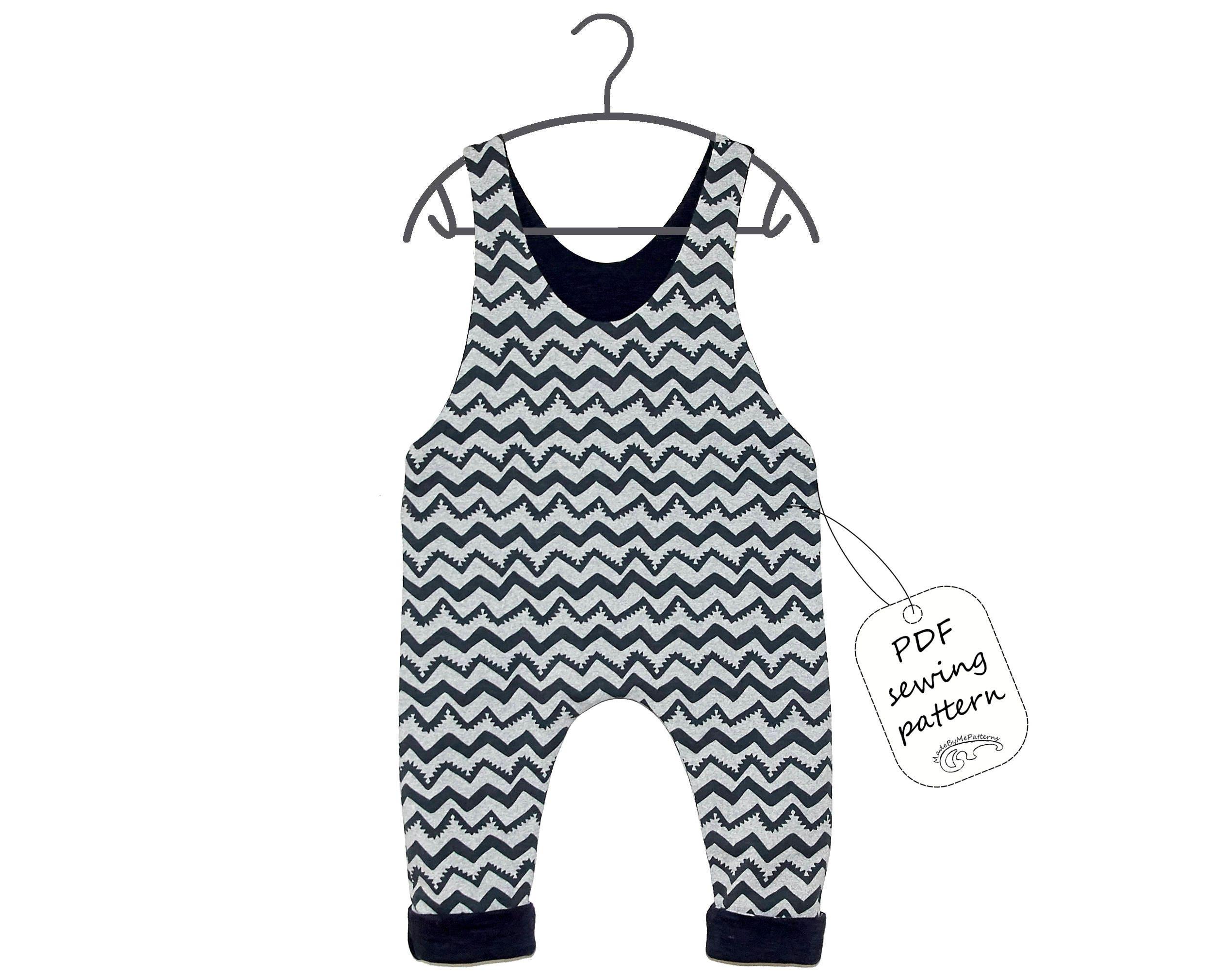 Baby romper pattern PDF, kids romper pattern PDF, sewing patterns ...
