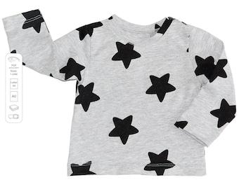 Baby t-shirt pattern PDF, baby sewing patterns