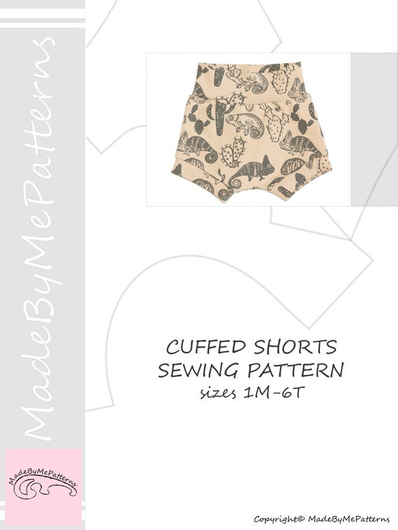 Baby and kids shorts Sewing Pattern PDF easy sewing pattern   Etsy
