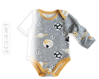 Baby bodysuit pattern pdf, baby pattern