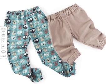 Classic and capri joggers pants Sewing Pattern PDF