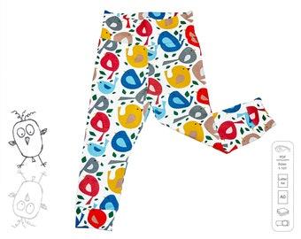 Leggings pattern PDF, baby sewing patterns pdf, girls sewing patterns pdf