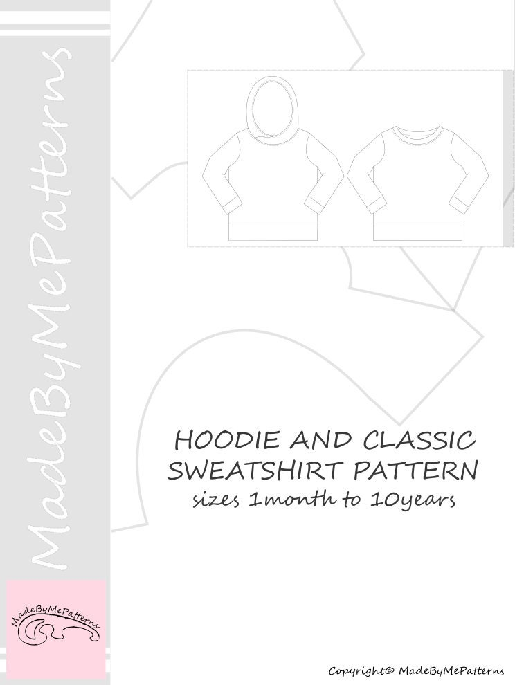 Hoodie Sewing Pattern PDF, sweatshirt sewing pattern PDF, easy ...