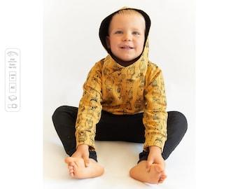 Hoodie Sewing Pattern PDF, sweatshirt sewing pattern PDF, easy sewing pattern, baby sewing patterns pdf, kids sewing pattern