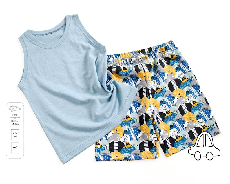 Tank top and shorts PDF sewing pattern sewing patterns from 1 image 0