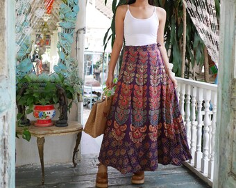 e8498f7feea9 Vintage Indian Long Wrap Skirt , MADE IN INDIA, Long Wrap Skirt