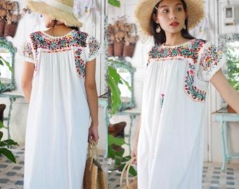 fe88cd38000 White Cotton Oaxacan Maxi Dress