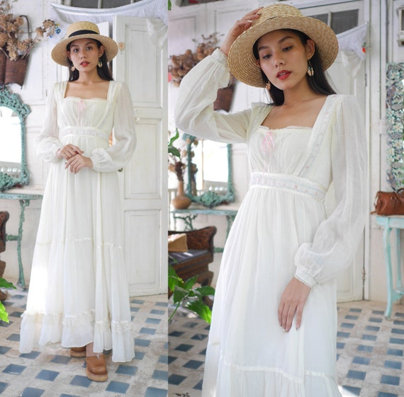 Gunne Sax by Jessica, Vintage 70's romantic Victor