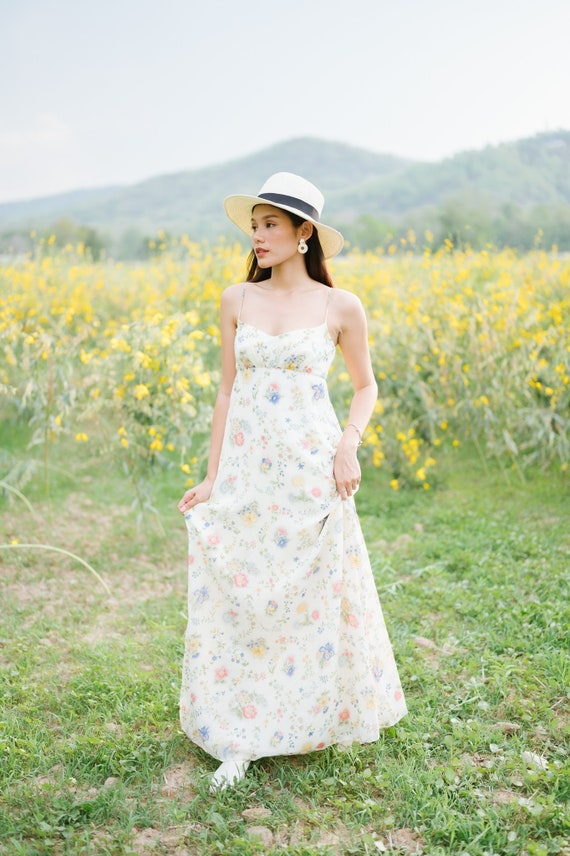 Vintage Priscilla of Boston Summer Slip Maxi Dress