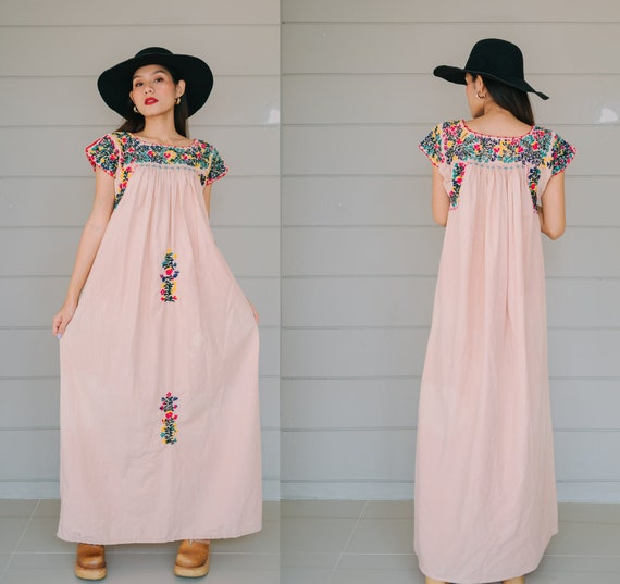 Vintage Mexican Maxi Dress from LAREDO TEXAS With