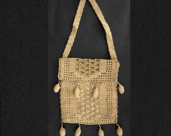 Victorian Hand Crochet Evening Purse / Bag.