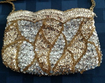 Handmade Beaded and Sequence Evening Bag