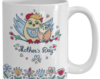 Mother and child owls love coffee mug gift for mom