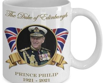 Prince Philip Duke of Edinburgh Commemorative Coffee Mug UK Britain Royal Family Collectors Mug