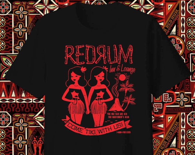 PRE-ORDER BLACKLIGHT July Delivery, Come Tiki With Us RedRum Unisex Blacklight Reactive T-shirt