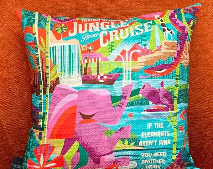 Jungle Cruising, Double Sided Pillow Cover