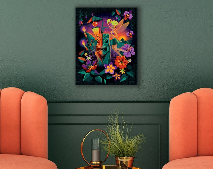 Autographed 8X10 Gallery Canvas Giclee, Drinkerbelle, Domestic Shipping Included