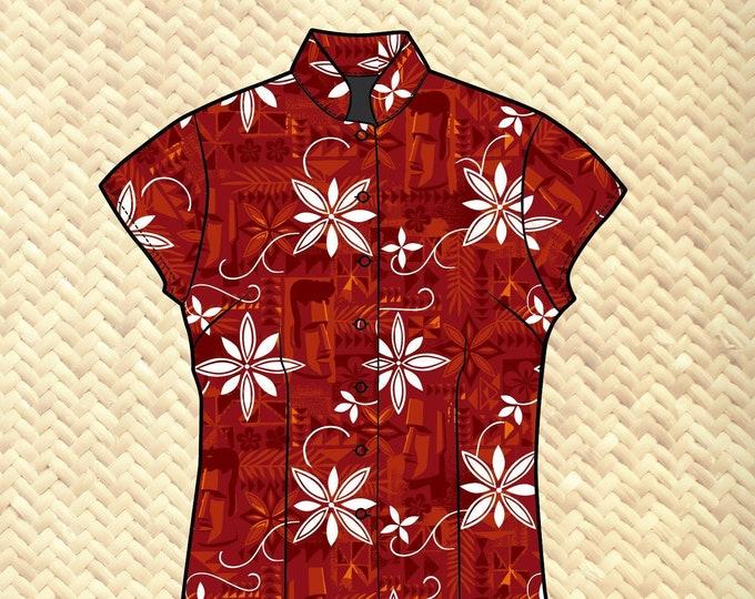 PRE ORDER, Polynesian Pomp Women's Aloha Shirt