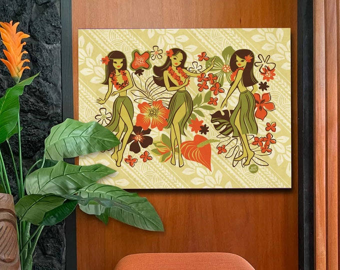 Autographed Gallery Wrapped Canvas Giclee, Classic Hula, Domestic Shipping Included