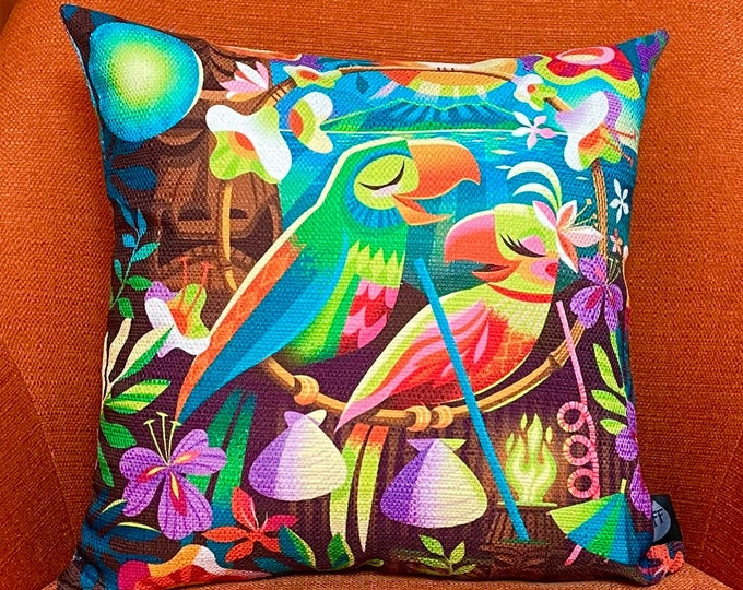 Birds of a Feather, Double Sided Pillow Cover