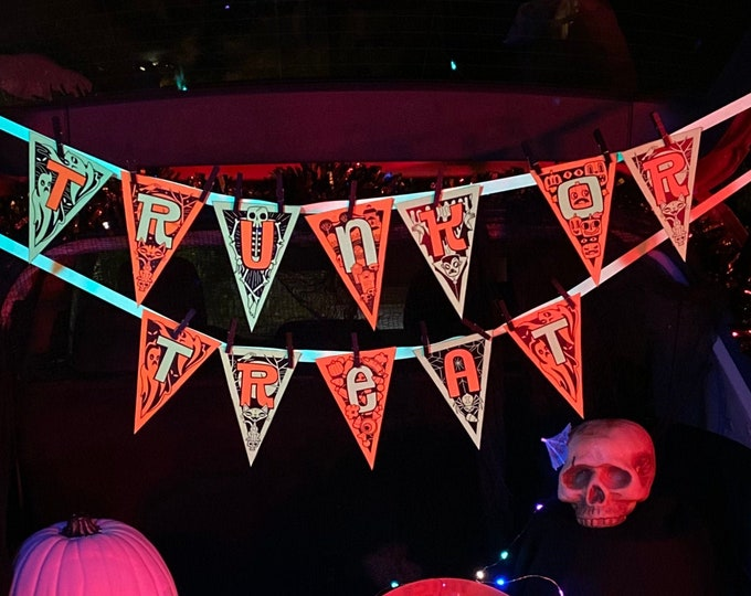 Trunk Or Tiki: Color Me Trick Or Treat Banner
