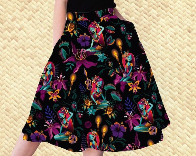 PRE ORDER, Tropic Nightshade Aloha Skirt with Pockets
