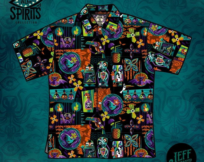 PRE ORDER, Unisex Calling All Spirits Aloha Shirt, Domestic Shipping Included