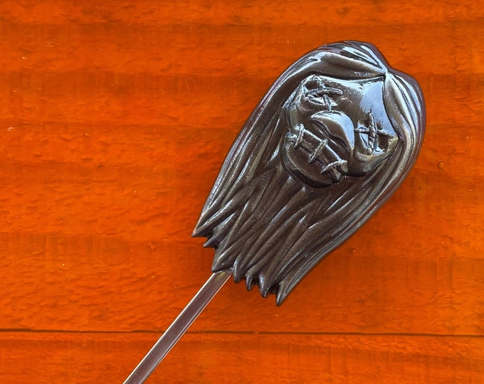 Tiki Safari Sculpted Metal Swizzle Stick