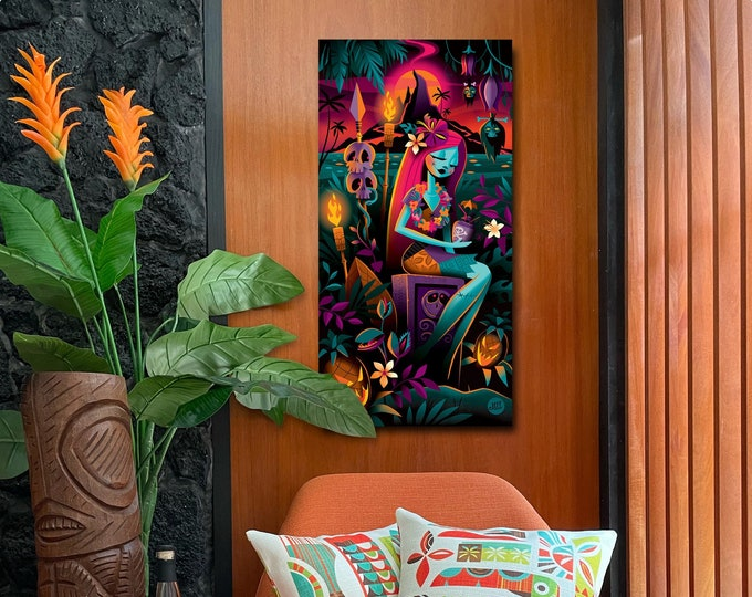 Autographed Gallery Canvas Giclee, Tropic Nightshade
