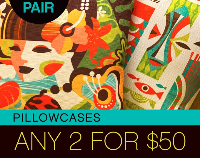 Pick Your Pair Show Special...... 2 Pillowcases For Fifty Bucks