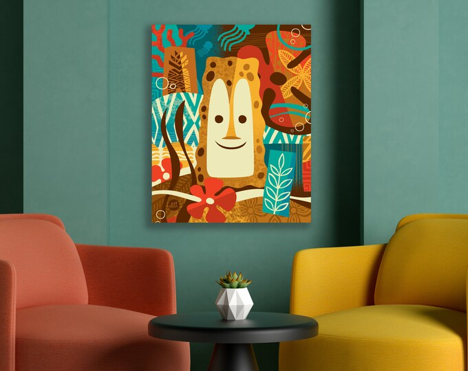 Autographed Gallery Canvas Giclee, Under The Sea, Domestic Shipping Included