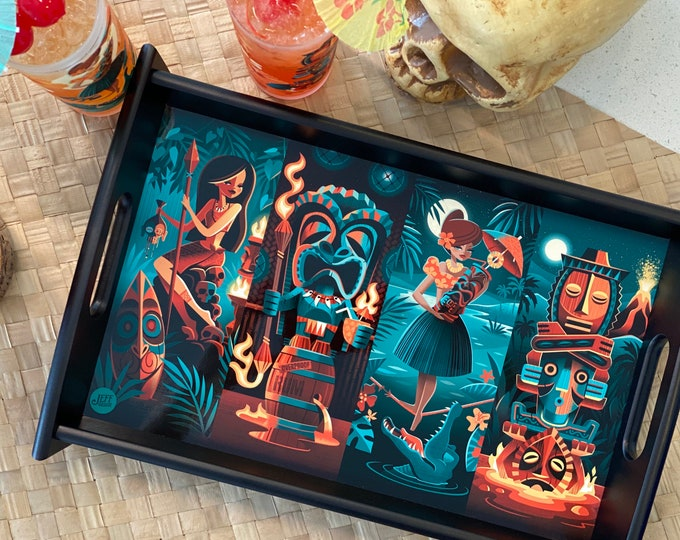 Tiki Portraits Bar Tray