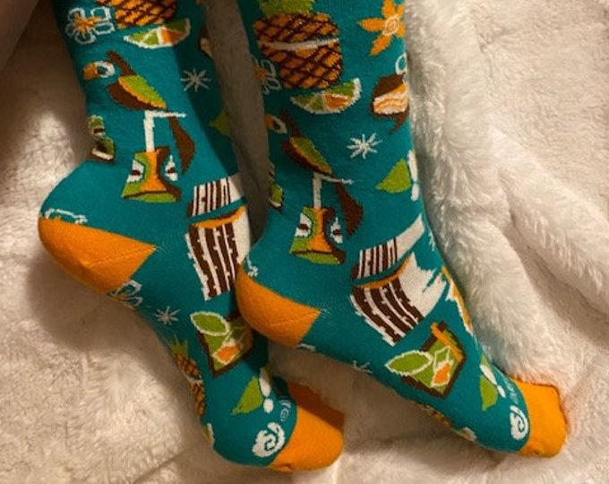 Mod Drinks Tiki Socks