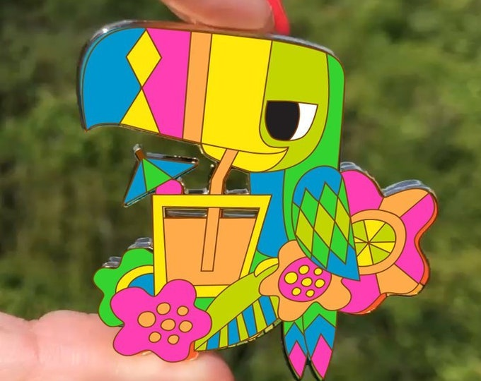 Tipsy Toucan Movable Pin, NEW Colorway!!! By Jeff Granito Designs
