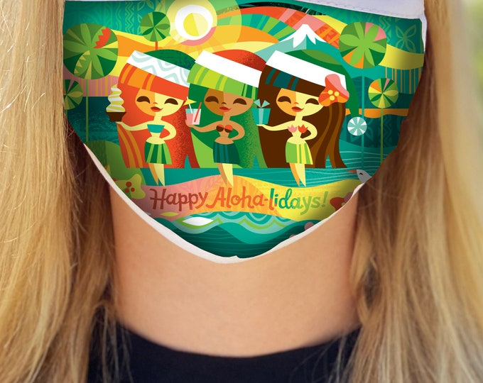 Happy Aloha-lidays Face Mask