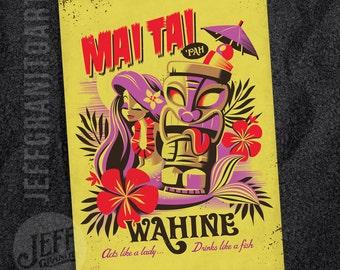 Mai Tai Pah Wahine Postcard