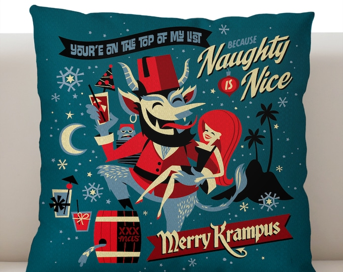 Merry Krampus Pillow Cover