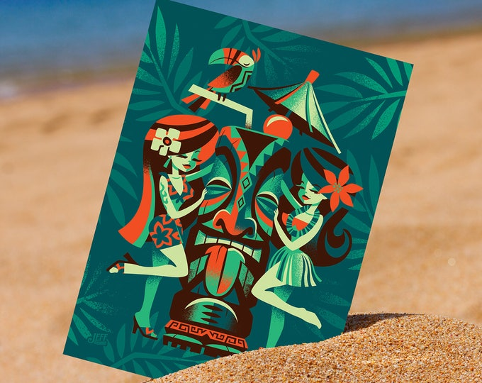 Manage a Tiki Postcard