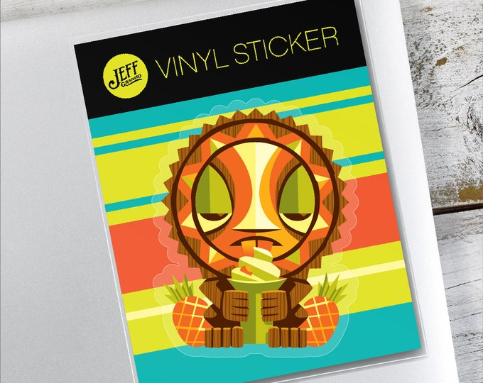 Sun Tiki Vinyl Sticker